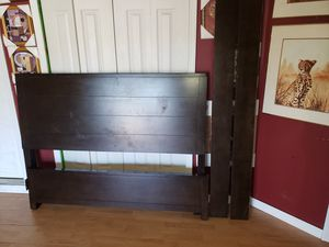 $85, Macy's queen size dark wood bed frame for Sale in Port St. Lucie, FL