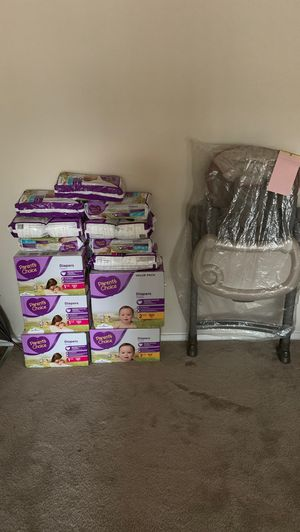 900+ Parent Choice pampers and high Chair for Sale in Hillcrest Heights, MD