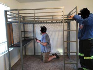 QUEEN BUNK DESK BED $170 for Sale in Joliet, IL