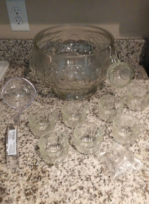 Punch Bowl Set W/8 Cups/Ladle for Sale in Germantown, MD