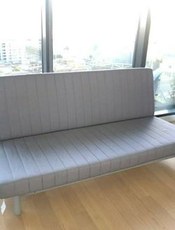 Ikea Convertible TWIN To Full Sz Futon Sleeper Couch Sofa Loveseat Daybed w/Mattress for Sale in Monterey Park,  CA