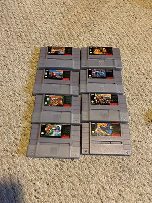 Super Nintendo SNES games (multiple Pictures) for Sale in Stanwood, WA