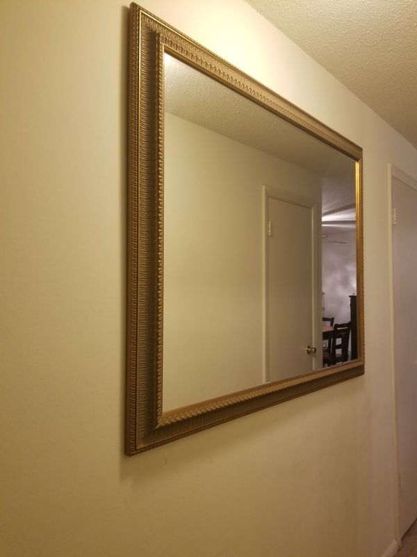 Large Wall Mirror Trimmed In Gold
