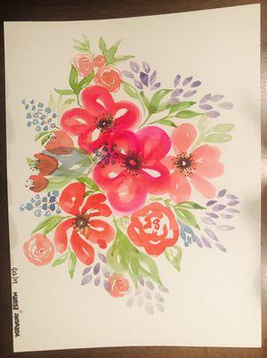 Watercolors flower bouquet 9x12 for Sale in Manassas, VA