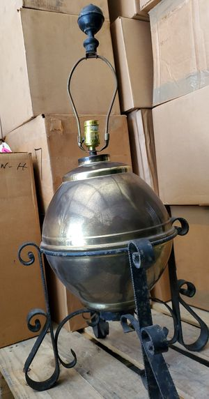 Antique vintage rustic farmhouse table lamp from 1970s for Sale in Torrance, CA