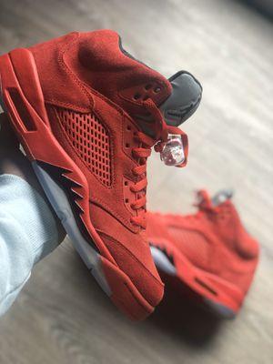 "Jordan 5 ""red suede"" size 10 for Sale in Willingboro, NJ"