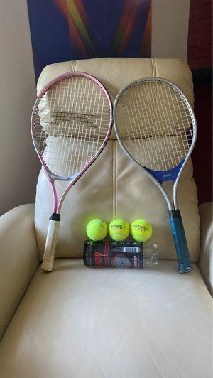 2 tennis 🎾 rackets + 3 balls 🎾 🎾 for Sale in Alexandria, VA