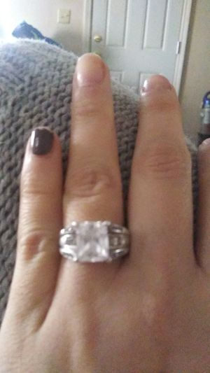 Silver diamond ring for Sale in Jerome, ID