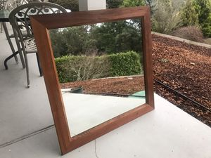 2 large wall mirrors on quality wood frames for Sale in Normandy Park, WA