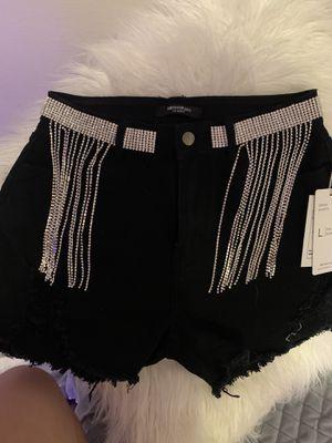 Rhinestone fringe shorts for Sale in Lewisville, TX