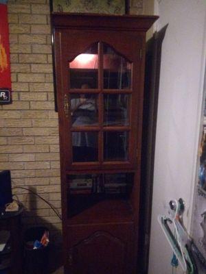 Interior lit cabinet for Sale in Tulsa, OK