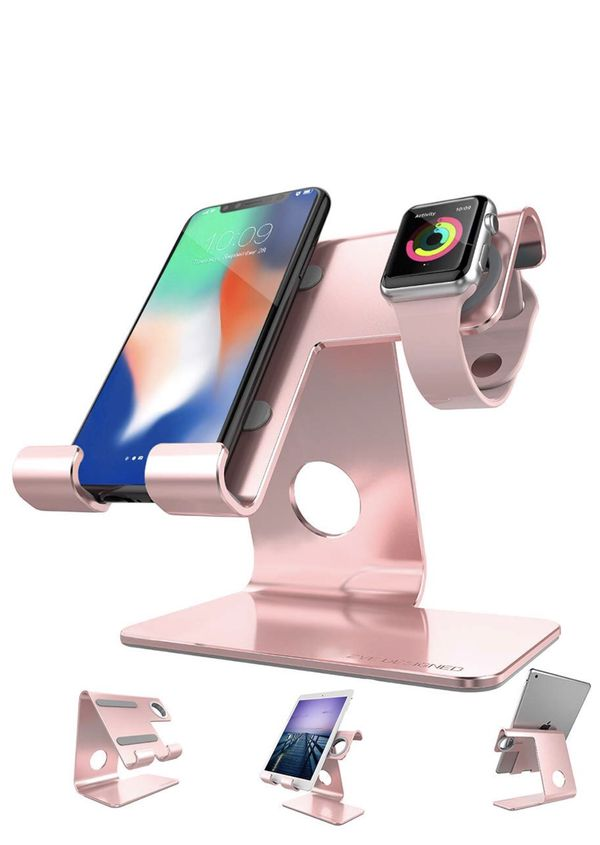 Rose Gold Iphone Apple Watch Charging Stand