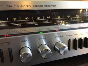 Vintage Silver Face Realistic STA-110 Stereo Receiver & Speakers for Sale in San Carlos, CA
