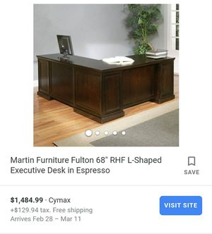 Executive desk with chair for Sale in Sacramento, CA