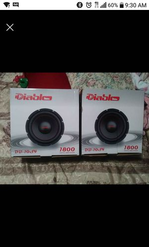 "10"" diablo subwoofers for Sale in Oklahoma City, OK"