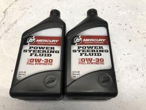 Mercury 0w-30 full synthetic power steering fluid for Sale in Bremerton, WA