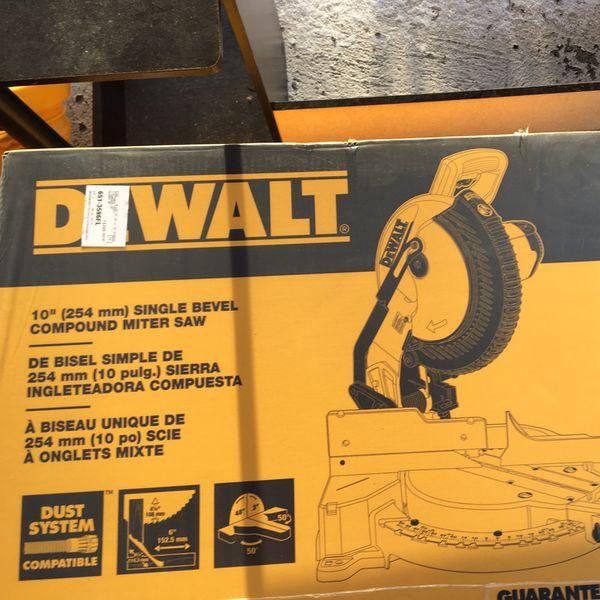 "Dewalt Single Bevel Compound saw 10"""