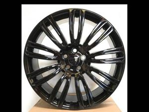 """Range rover 22"""" new gloss blk sport style rims tire set for Sale in Hayward, CA"""