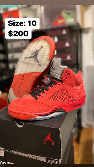 Jordan 5 Retro Red Suade Size 10 for Sale in Temecula, CA