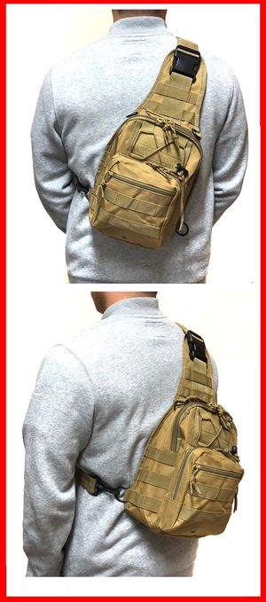 NEW! Tactical Military Style Sling Side Crossbody Bag gym bag work bag od green travel backpack luggage school bag molle camping hiking biking for Sale in Carson, CA