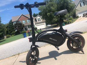 Rechargeable folding Ancheer electric bike with charger for Sale in Simpsonville, SC