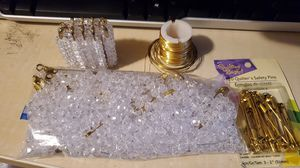 Lot of plastic clear beads and gold hardware for Sale in Indian Land, SC