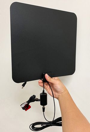 NEW $18 Indoor Flat TV Antenna 60-90 Miles Range for Sale in Downey, CA