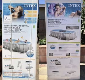 NEW Intex 26795EH Oval Prism Frame Swimming Pool Set 16.5ft X 9ft X 48in for Sale in Rancho Dominguez, CA