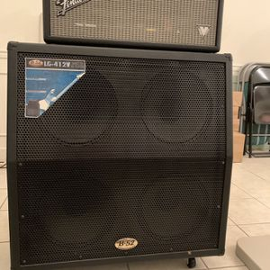 Fender Bandmaster VM tube guitar amp head and B52 Lg-412v speakers for Sale in Lorton, VA