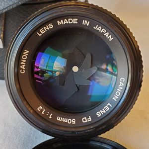 Canon FD 50mm f/1.2 Super Fast Standard Prime 35mm Manual lens with Case for Sale in Carrollton, TX