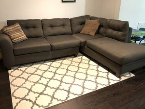Slate Grey Sectional Couch for Sale in Baltimore, MD