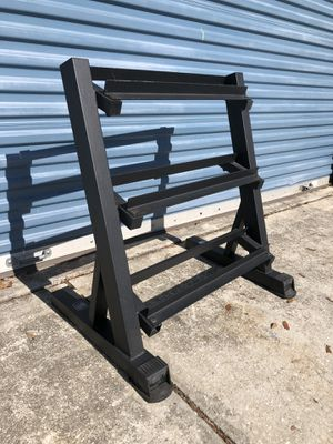 Nearly new three tier dumbbell rack for Sale in Oviedo, FL