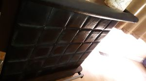 """Black leather bar stand with shelves storage in back 40""""h×48""""w for Sale in Netcong, NJ"""