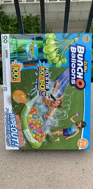 NEW 16 FEET WATER SLIDE WITH 100+ EASY WATER BALLOONS NEW NEVER USED for Sale in Buena Park, CA