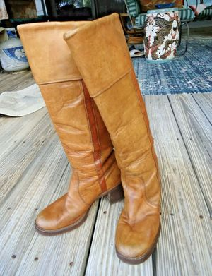 FRYE Vintage Cuffed Campus Brown Boots 7.5 for Sale in Fitchburg, MA