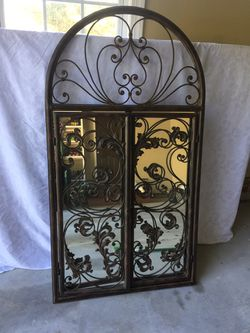 XL HEAVY mirror with ornate doors that open. 3.5'T for Sale in Fuquay-Varina,  NC