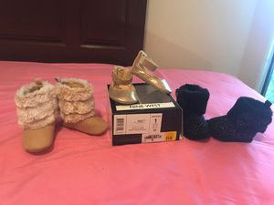 Baby girl shoes and boots for Sale in Mission, TX