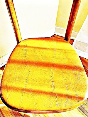 Wooden Shelby Williams Industries MCM chairs (4) with leather seat cushion. for Sale in Pawtucket, RI