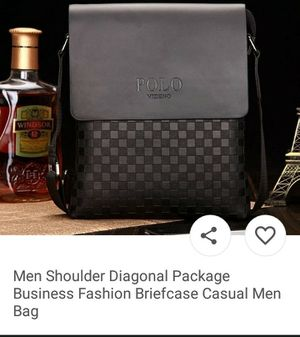 POLO .Men Shoulder Diagonal Package business fashion briefcase casual men Bag for Sale for sale  New York, NY