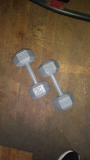(2) 20 lb hex weights, 40 lb total for Sale in Harrisburg, PA