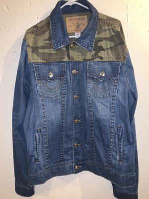 True Religion denim jacket for Sale in Attleboro, MA