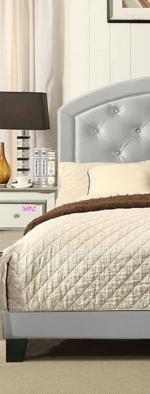Gaby Silver Platform Bed by Crown Mark Full Twin Available from $209 for Sale in Houston, TX