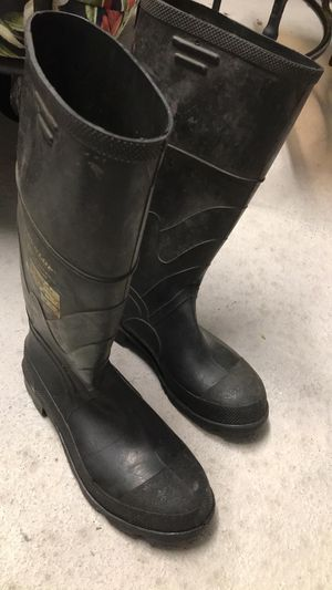 Steel toe black rubber boots for Sale in West Miami, FL