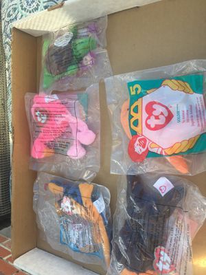 Five mini ty Mcdonald land beanie babies. 1996 for Sale in Alta Loma, CA