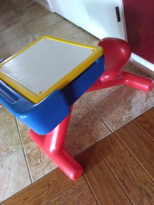 "29""x18""TODAY'S KIDS DESKheavy-duty plastic/student chair. Has a dry erese marker board and storage for books/pencil/ colors etc. for Sale in Fort Worth, TX"
