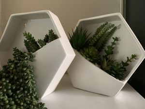 Matching faux succulent hanging planter for Sale in Washington, DC