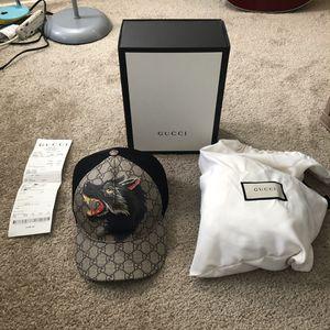 Wolf GG Gucci Supreme Canvas Baseball Hat (Very Rare) for Sale in Aurora, CO