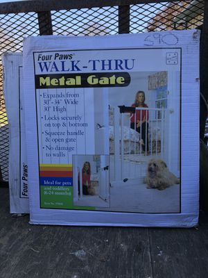 Four Paws Walk Thru Metal Gates for Sale in Butler, PA