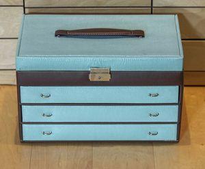 Jewlery Box. Tiffany blue, BIG, looks darker in picture then in real life. Jewlery storage bin. for Sale in Bellevue, WA