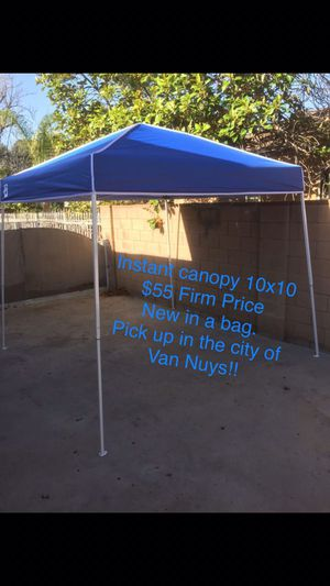 Instant Canopy 10x10 $55 Firm Price Pick Up In Van Nuys for Sale in Los Angeles, CA